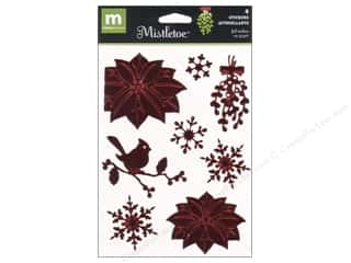 Making Memories: Making Memories Stkr Mistletoe Foil Poinsettia