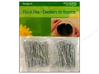 "Floral Arranging Size: FloraCraft Pins Floral 1.75"" 100 piece"