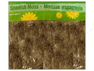 Packaged Moss $4 - $5: FloraCraft Moss Spanish 4 Liter Bag Natural