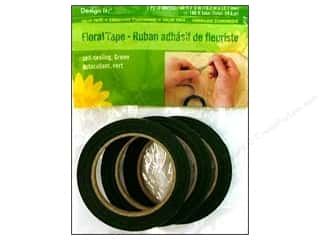 Tapes Floral Arranging: FloraCraft Floral Tape 1/2 in. x 60 ft. Green 3 pc.