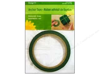 Glues, Adhesives & Tapes Gardening & Patio: FloraCraft Floral Anchor Tape 1/4 in. x 40 ft. Green