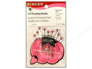 Singer Needles, Pullers, Cases & Threaders: Singer Notions Hand Needle Self-Thread with Magnetic Holder 10pc