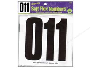 Dritz Iron On Numbers Soft Flex 5&quot; Block Black