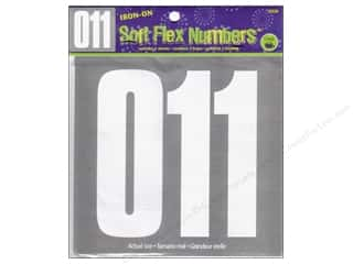 "Dritz Iron On Numbers Soft Flex 5"" Block White"