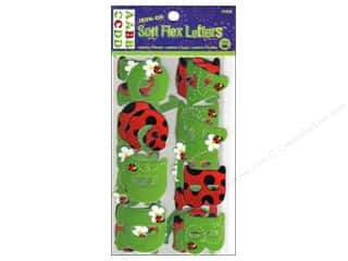 J. W. Etc: Dritz Iron On Letters Soft Flex 1.25&quot; Ladybug R/G