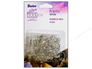 Darice  Tool Box Clear Push Pins Clear 50pc