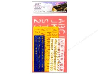 2013 Crafties - Best Quilting Supply: Darice  Tool Box Stencil Set Letter Combo 4pc
