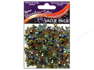 Rhinestones: Darice Hot Fix Glass Stone 3mm Multi 1000pc