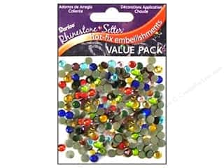 Rhinestones: Darice Hot Fix Glass Stone 5mm Multi 400pc