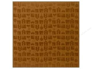 Bazzill 12 x 12 in. Cardstock Glazed Neighborhood Walnut