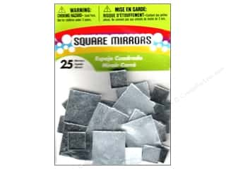 square mirror: Darice Mirrors Big Value Square 1/2 to 1 in. 25 pc.