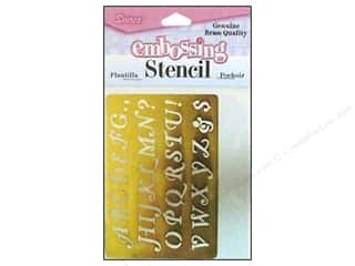 Darice Stencils Embossing Brass Scroll Alphabet