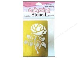 Tacks Pink: Darice Stencils Embossing Brass Rose