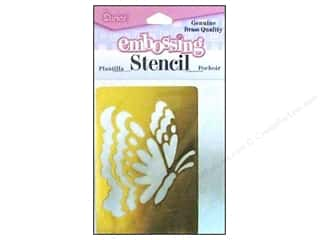 Darice Stencils Embossing Brass Butterfly