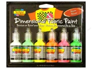 fabric paint: Scribbles Dimensional Fabric Paint Set Neon 6pc