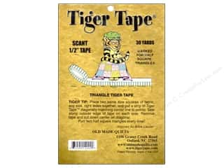 "Old Made Quilts Tapes: Old Made Quilts Tiger Tape 1/2"" Half Square Triangle"