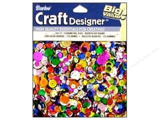 Sequins: Darice Cup Sequins 115gr Assorted