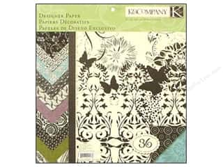 K & Company Designer Papers & Cardstock: K&Company Paper Pad 12x12 Black & Ivory Fusion