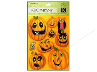 K&Co Grand Adhesions Tim Coffey Halloween Pumpkin