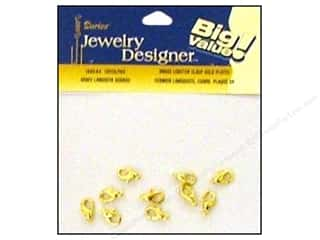 Clasps: Darice Jewelry Designer Clasps Lobster 12mm Gold Plate Brass 10pc