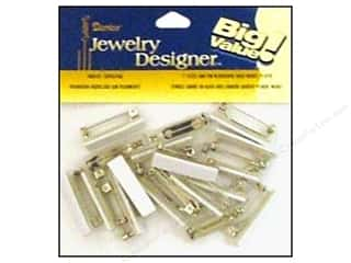 "Everything You Love Sale Beading & Jewelry Making Supplies: Darice Jewelry Designer Pin Back Bar 1"" Nickel 24pc"