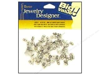 Beading & Jewelry Making Supplies Findings: Darice Jewelry Designer Earring Post 6mm Flat & Nut Surgical Steel 48pc