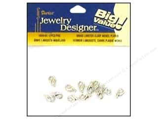 Clasps: Darice Jewelry Designer Clasps Lobster 12mm Nickel Plate Brass 12pc