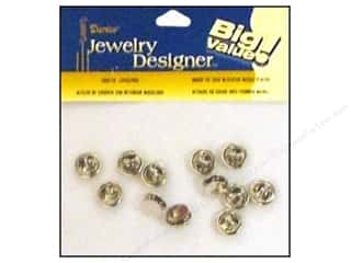 Craft & Hobbies Findings: Darice Jewelry Designer Findings Tie Tack w/Clutch Nickel Plate Brass 12pc
