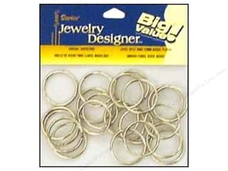 Jump Rings / Spring Rings: Darice Jewelry Designer Split Ring 25mm Nickel Plate Steel 48pc