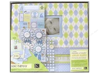 Grace Company, The Scrapbooking & Paper Crafts: K&Company Scrapbook Kit 12x12 Boxed Little House Baby Boy