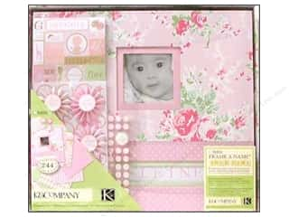 K&amp;Co Scrapbook Kit 12x12 Boxed Lil House Baby Girl