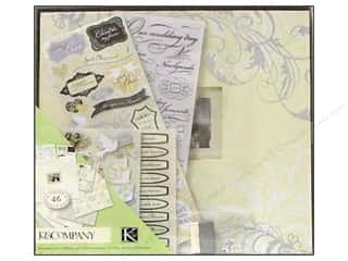"Clearance Blumenthal Favorite Findings: K&Co Scrapbook Kit 12""x 12"" Boxed Classic Wedding"