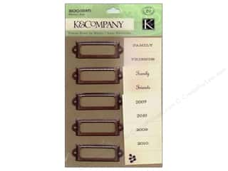 Metallic: K&Company Metal Art Eco Modern Label Holders