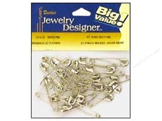 jewelry safety pin: Darice JD Safety Pins #2 Silver Plate Steel 90pc