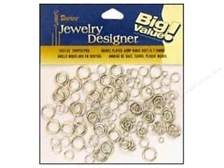 darice jewelry: Darice JD Jump Rings Assorted Nickel 240pc