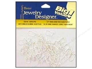 Darice JD Earring Kidney Wire Brass/Silver 100pc