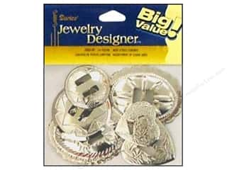 Darice Jewelry Designer Findings Concho Assorted Nickel 24pc