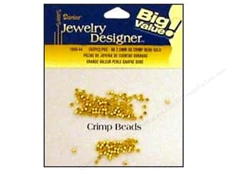 Darice JD Crimp Bead 2.5mm Gold 160pc