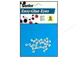 Darice Eyes Paste On Moveable 5mm Black 30pc (3 packages)