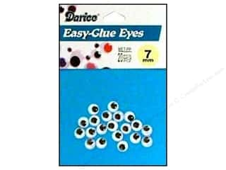Darice Eyes Paste On Moveable 7mm Black 20pc (3 packages)