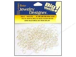 Jump Rings / Spring Rings: Darice Jewelry Designer Jump Rings 7mm Bright Silver 160pc
