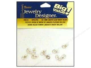 Darice JD Clasps Lobster 11mm Bright Silver 10pc