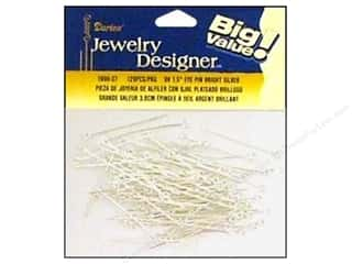 Darice JD Eye Pins 1.5&quot; Bright Silver 120pc