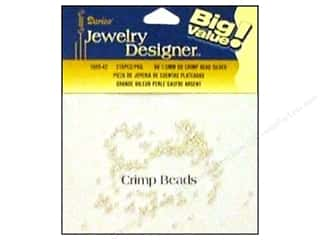 Crimpers: Darice Jewelry Designer Crimp Bead 1.3mm Silver 216pc