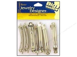 "Hair: Darice Jewelry Designer Hair Accessory Barrette 2.75"" 70mm Nickel 12pc"