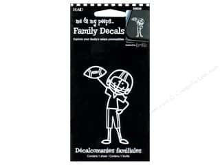House of White Birches Brothers: Plaid Peeps Family Decals Football Boy
