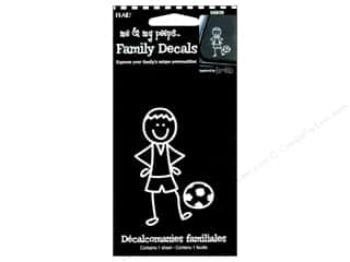 Rub-Ons Decals: Plaid Peeps Family Decals Soccer Boy