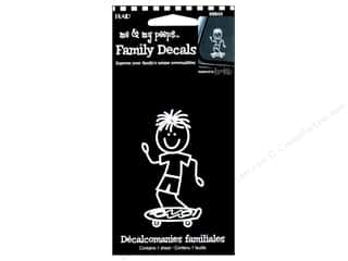 Plaid Family: Plaid Peeps Family Decals Skateboard Boy