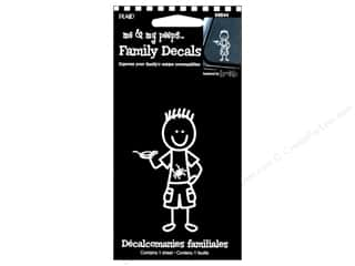 Outdoors Clearance: Plaid Peeps Family Decals Outdoor Boy