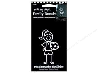 Craft & Hobbies Family: Plaid Peeps Family Decals Soccer Girl